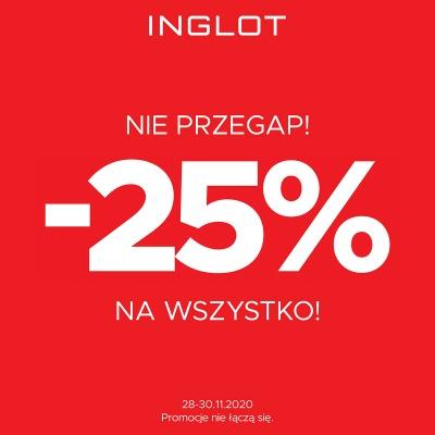 25% na wszystko w INGLOT!