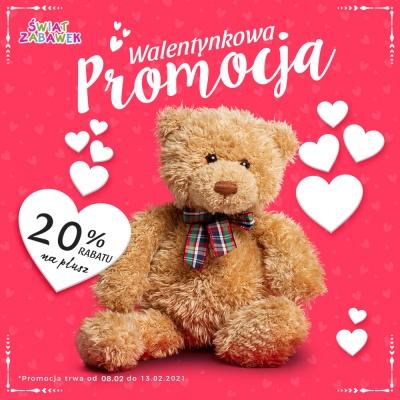 Promocja Walentynkowa – 20 % na pluszaki