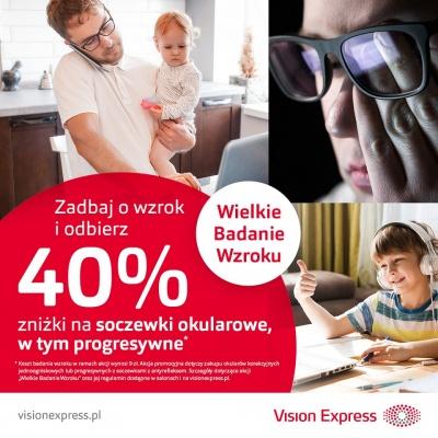 Rozpoczynamy nową edycję Wielkiego Badania Wzroku w salonach Vision Express!