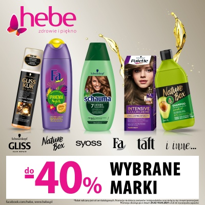 Do -40% na wybrane marki