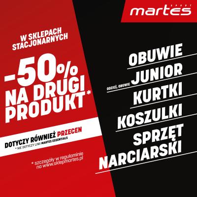 -50% na drugi produkt!