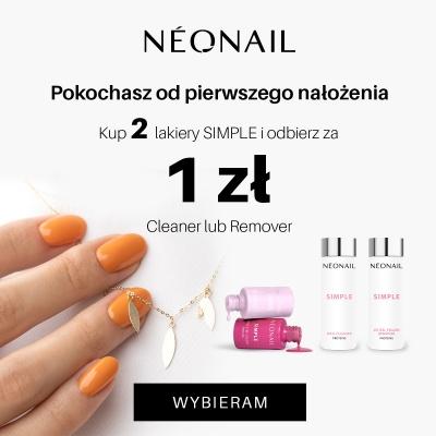 Teraz, gdy kupicie 2 lakiery Simple od NEONAIL, otrzymacie remover lub cleaner jedynie za 1 zł!