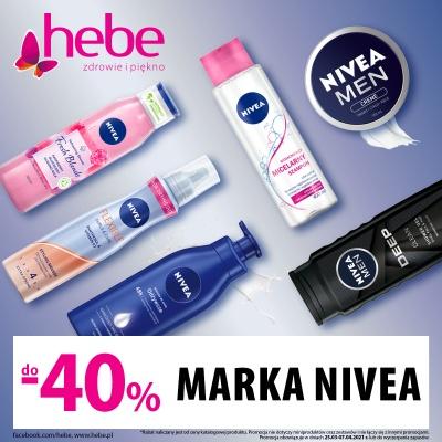 Kosmetyki NIVEA 40% taniej!