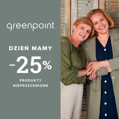 -25% na nieprzecenione produkty z okazji Dnia Matki tyko w Greenpoint!