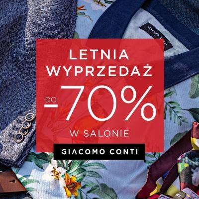 LETNIE WYPRZEDAŻE aż do -70% w salonach Giacomo Conti