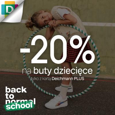 Aż 20% rabatu na buty dziecięce!