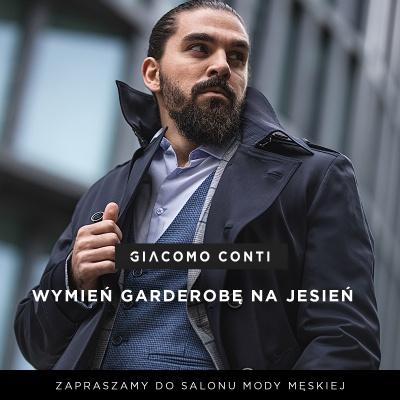 Zapraszamy do GIACOMO CONTI – salonu mody męskiej!
